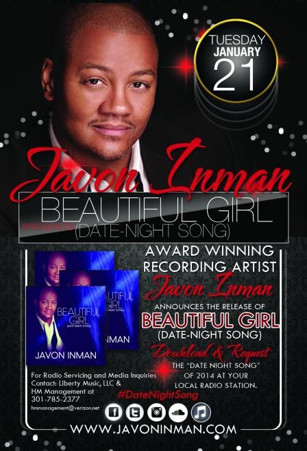 Javon Inman Beautiful Girl Promo Flyer