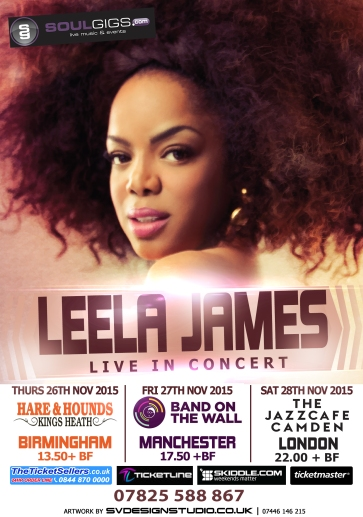 Leela James UK flyer