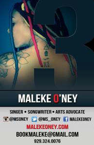 Maleke O'Ney Promo master Front